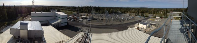 Overhead view of Soldotna Combustion Turbine